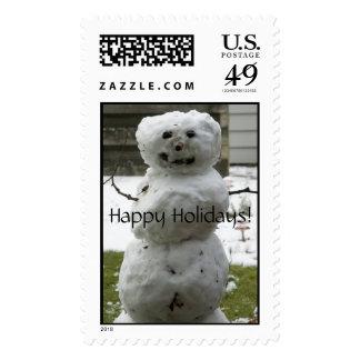 Snowman, Happy Holidays! Stamp