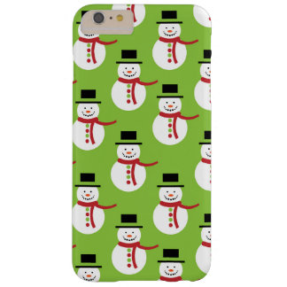 Snowman, Hat, Scarf, Buttons - Red Green White Barely There iPhone 6 Plus Case