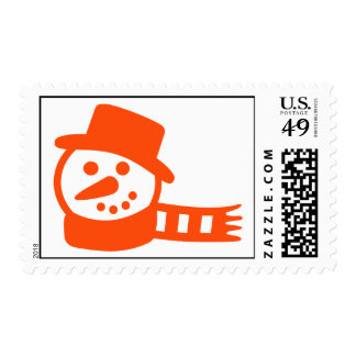 Snowman hat scarf postage