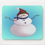 SNOWMAN & HATS by SHARON SHARPE Mouse Mats