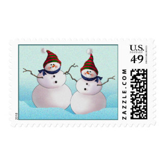 SNOWMAN & HATS by SHARON SHARPE Stamps
