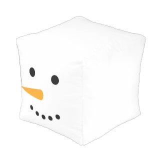 Snowman Head Cubed Pouf