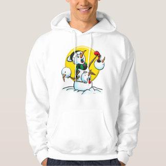 snowman heads copy hoodie