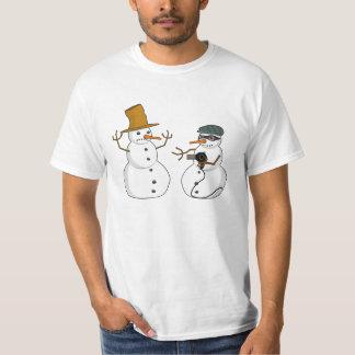 Snowman Hold Up T-Shirt