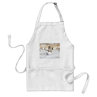 Snowman holding gifts adult apron