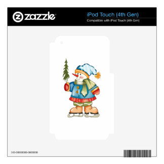 SNOWMAN HOLDING TREE SKIN FOR iPod TOUCH 4G