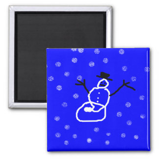 Snowman Holiday Christmas Magnet - Art by Kids
