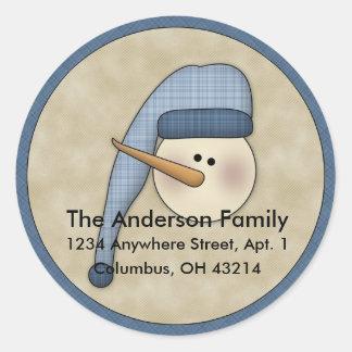 Snowman Holiday D1 Return Address Labels
