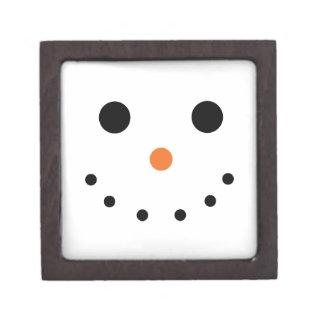 Snowman Holiday Gift Box Premium Keepsake Box
