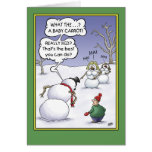 Snowman Holiday Humor, Size Matters Greeting Card