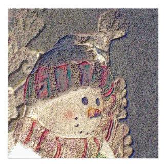 Snowman Holiday Invitation
