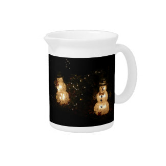 Snowman Holiday Light Display Drink Pitcher