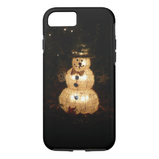 Snowman Holiday Light Display iPhone 7 Case