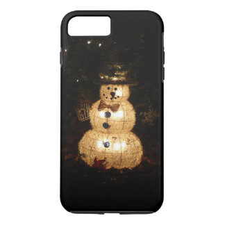 Snowman Holiday Light Display iPhone 7 Plus Case