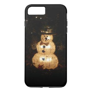 Snowman Holiday Light Display iPhone 8 Plus/7 Plus Case