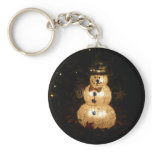 Snowman Holiday Light Display Keychain