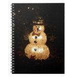 Snowman Holiday Light Display Notebook
