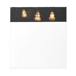 Snowman Holiday Light Display Notepad