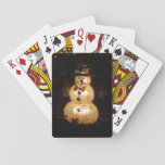 Snowman Holiday Light Display Playing Cards