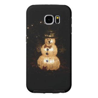 Snowman Holiday Light Display Samsung Galaxy S6 Case