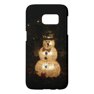 Snowman Holiday Light Display Samsung Galaxy S7 Case