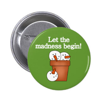 Snowman Holiday Madness T-shirts and Gifts 2 Inch Round Button