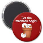 Snowman Holiday Madness T-shirts and Gifts Fridge Magnet