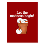 Snowman Holiday Madness T-shirts and Gifts Postcard