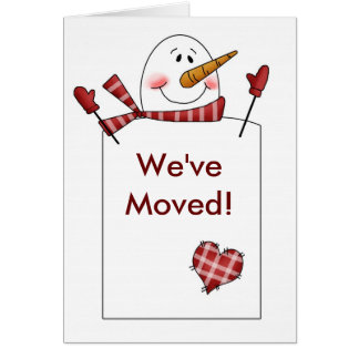 SNOWMAN Holiday New Home Moving Card