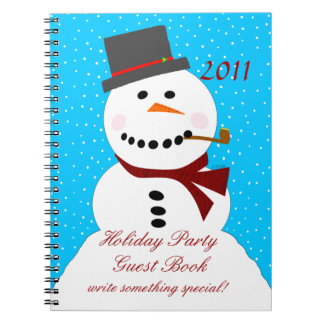 Snowman-Holiday Party Guest Book