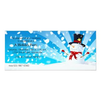 Snowman Holiday Party Invitation