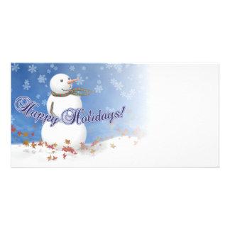 Snowman Holiday Photo Card
