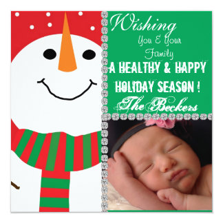 Snowman Holiday PICTURE CARD