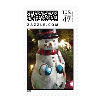 Snowman Holiday Postage Stamp
