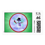 Snowman Holiday Postage Stamps