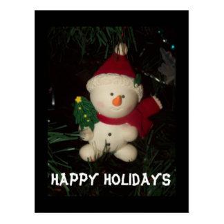 Snowman Holiday Postcard