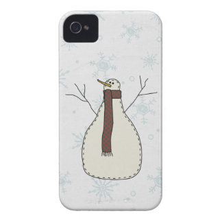 Snowman Holiday Scene Character iPhone 4 Case-Mate Case