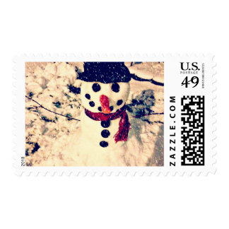 Snowman Holiday Stamps