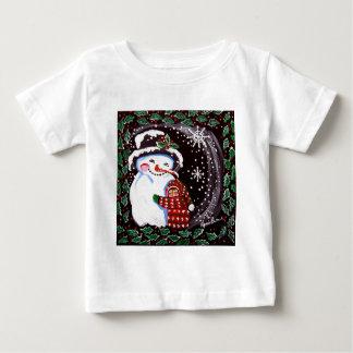Snowman Hug Winter Folk art Infant T-shirt