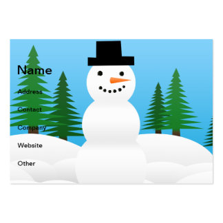 Snowman illustration business card template