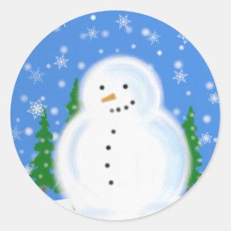 Snowman in a Blizzard mini Sticker