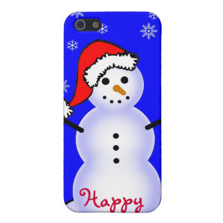 Snowman in a Santa Hat, Happy Holidays! Cover For iPhone SE/5/5s