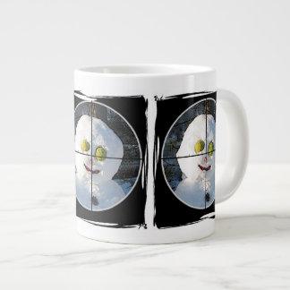 Snowman in a Scope Target Giant Coffee Mug