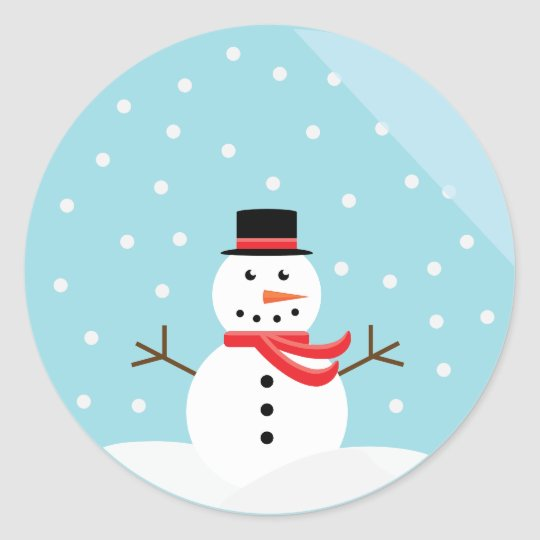 Snowman in a Snow Globe Stickers