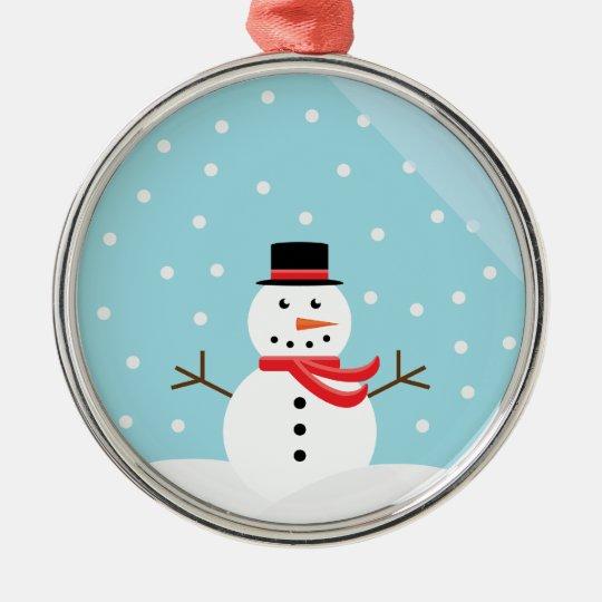 Snowman In A Snowglobe Ornament