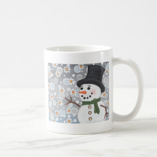 Snowman in a Snowstorm Mugs