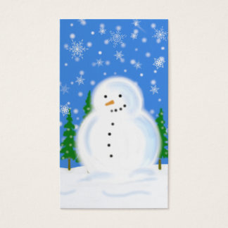 Snowman in Blizzard Gift Tag