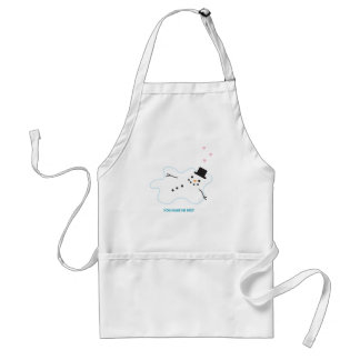 Snowman in Love Adult Apron