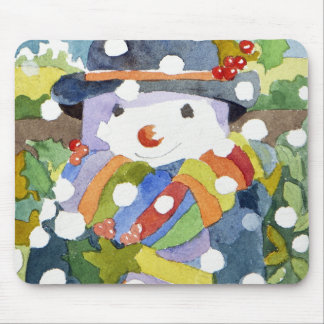 Snowman in snow 2011 mouse pad