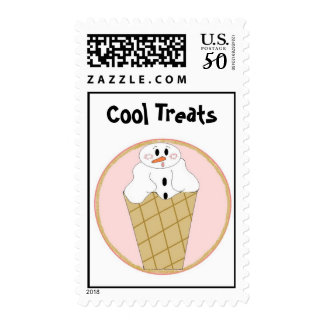 Snowman in Snow Cone Postage